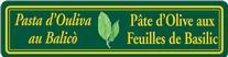 Pâte d'Olive aux feuilles de Basilic saveurs Méditerranéenne